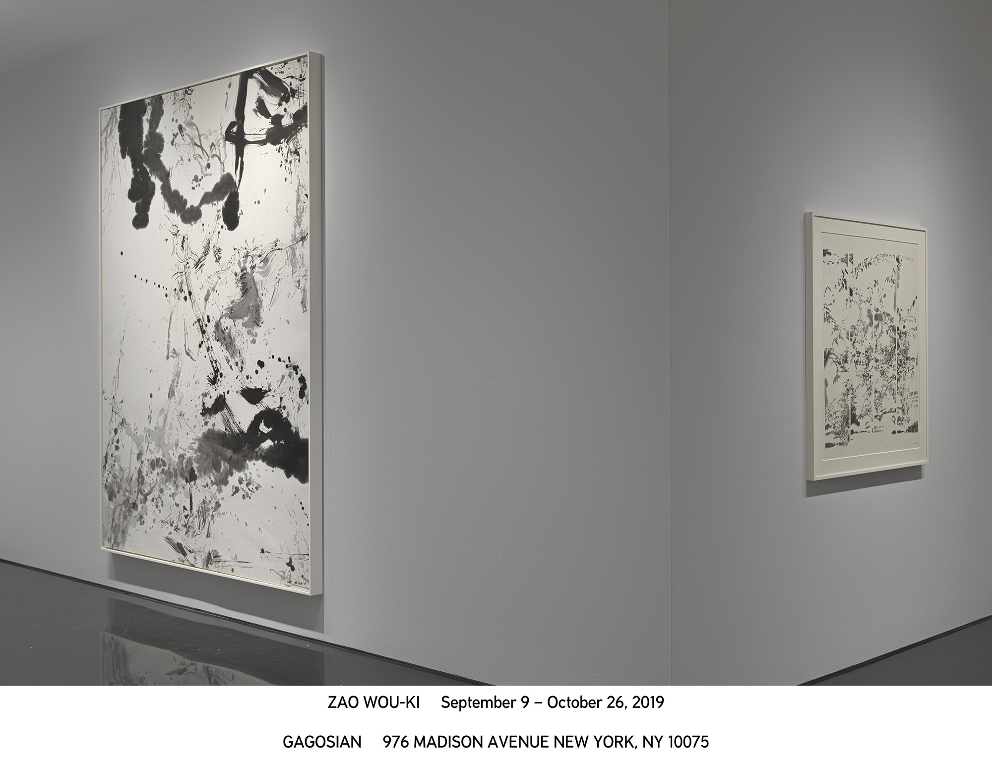 Zao Wou-Ki exhibition at the Gagosian Gallery in New York. Photo: Gagosian Gallery