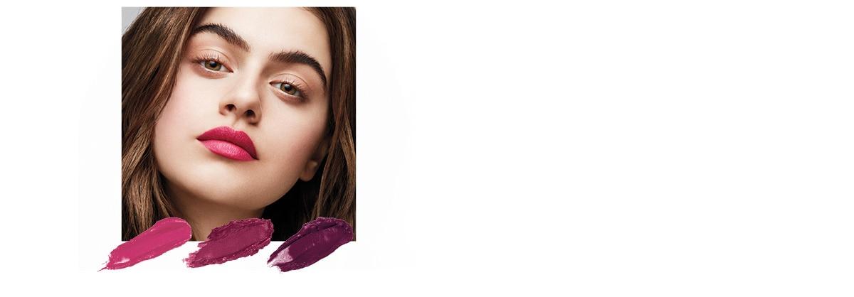 Kühles Braun & Schwarz | Neutrale oder Aschige Töne  Beerige Farben mit kühlem Unterton wie Prickly Pear, Blushed Plum oder Acai passen zu deine, Haaren und kreieren einen coolen Look.