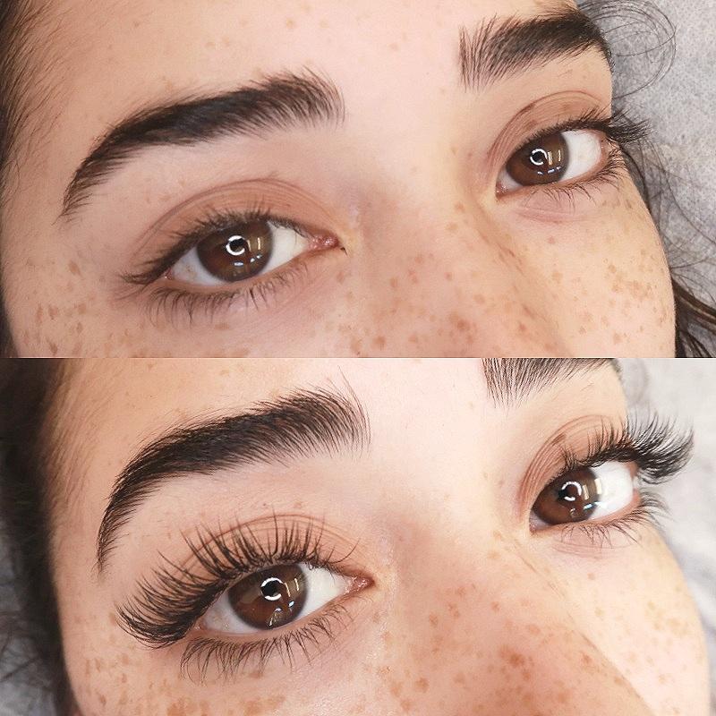 100 Premium eyelash extensions