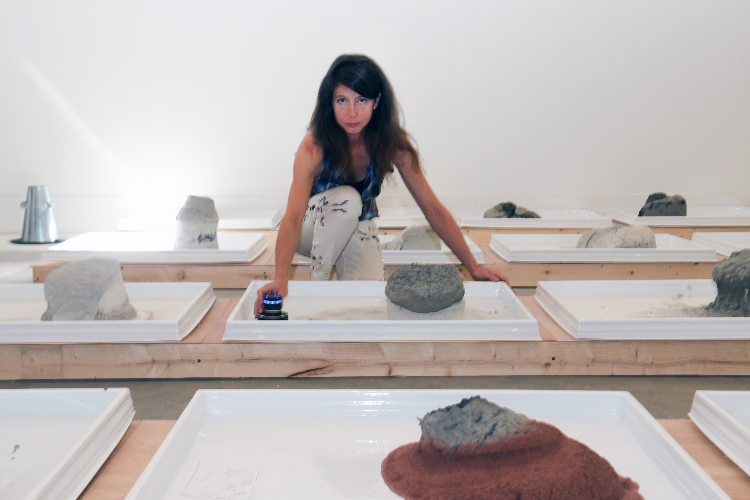 """Michelle Fornabai,  act 3 mix (""""To a Water Lily""""),  photographed at the MacDowell Colony, June, 2015.  photo credit: ©Joanne Eldrege Morrissey."""