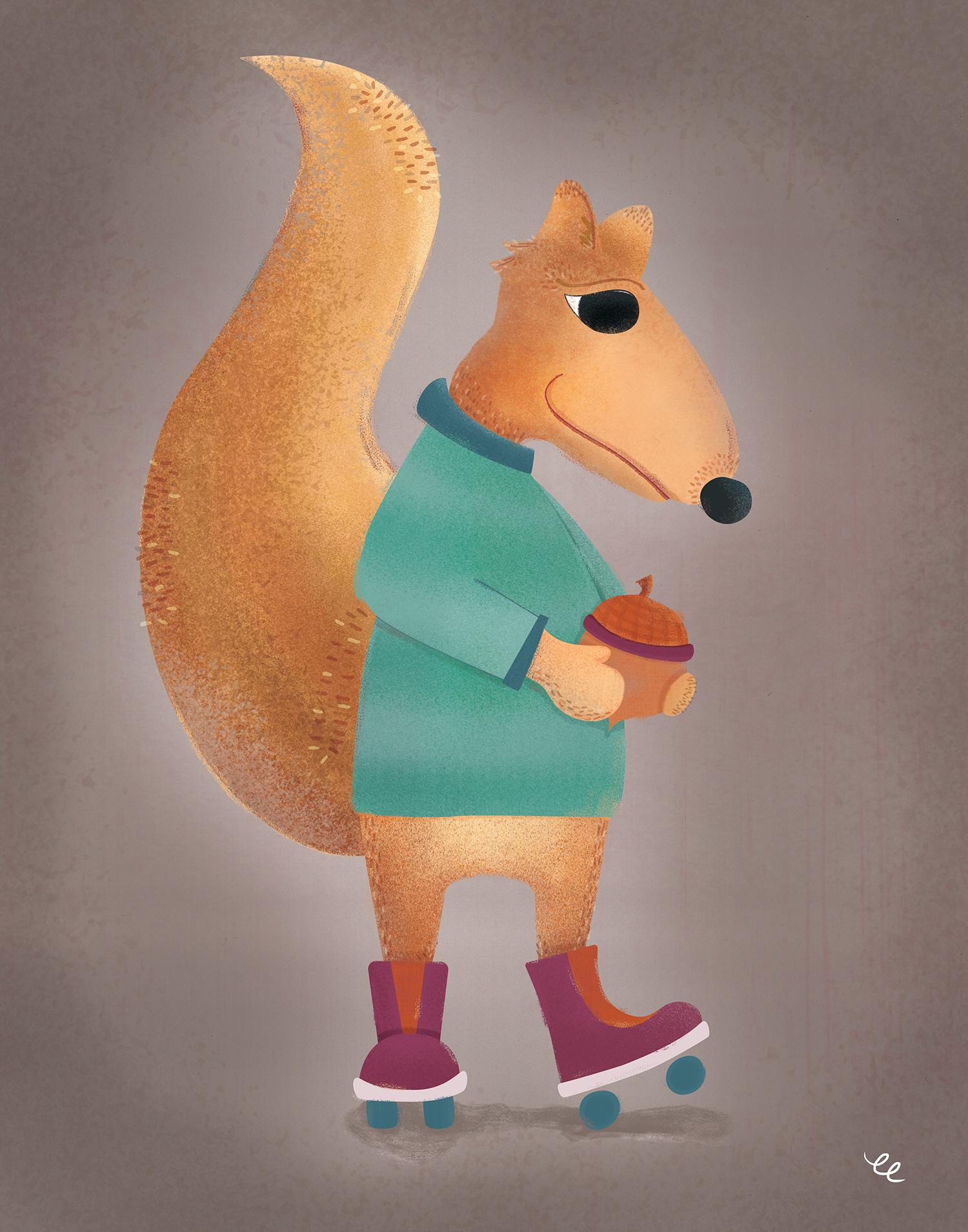 WEEK 4:  Skating Squirrel