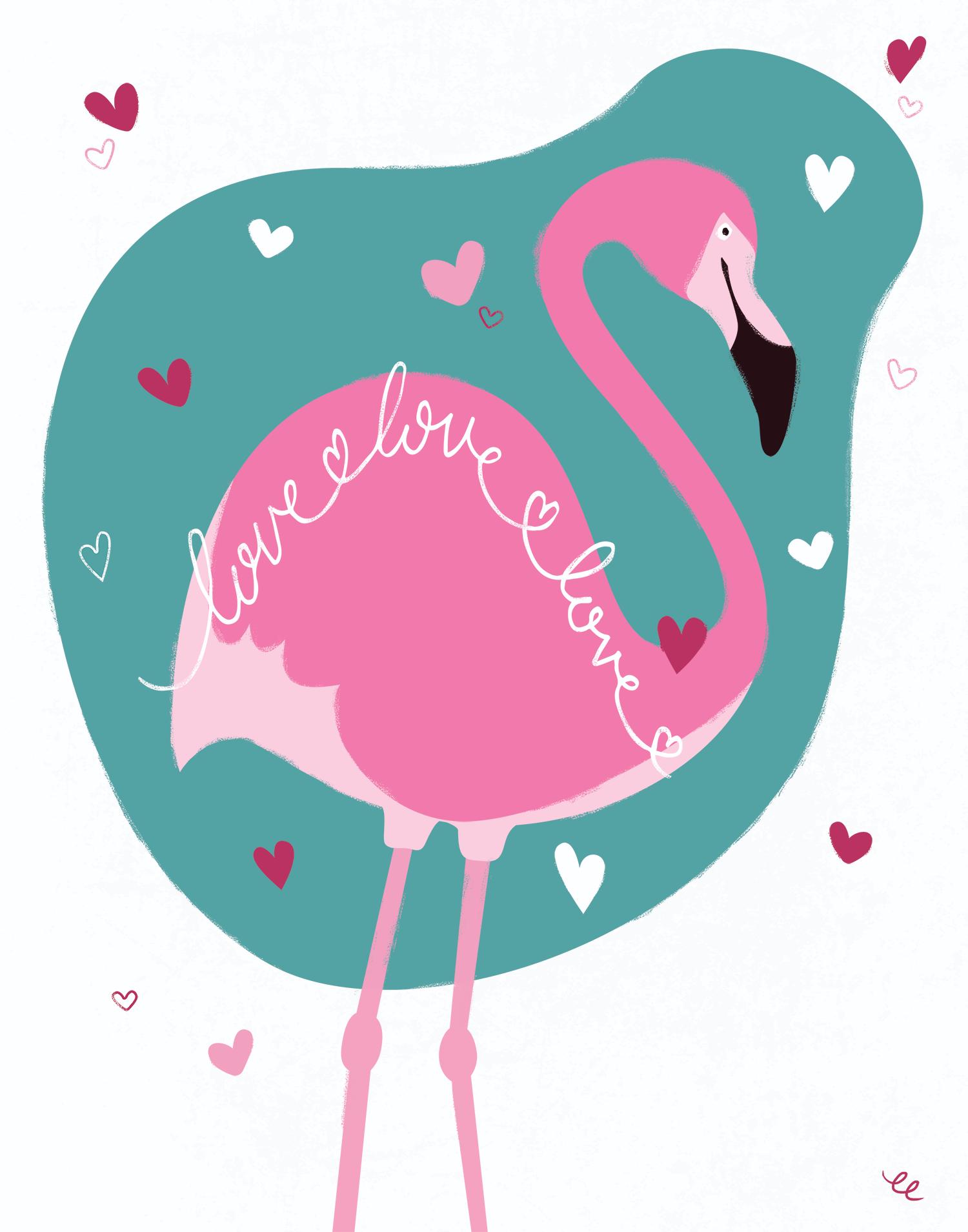 WEEK 6:  a Loving Flamingo