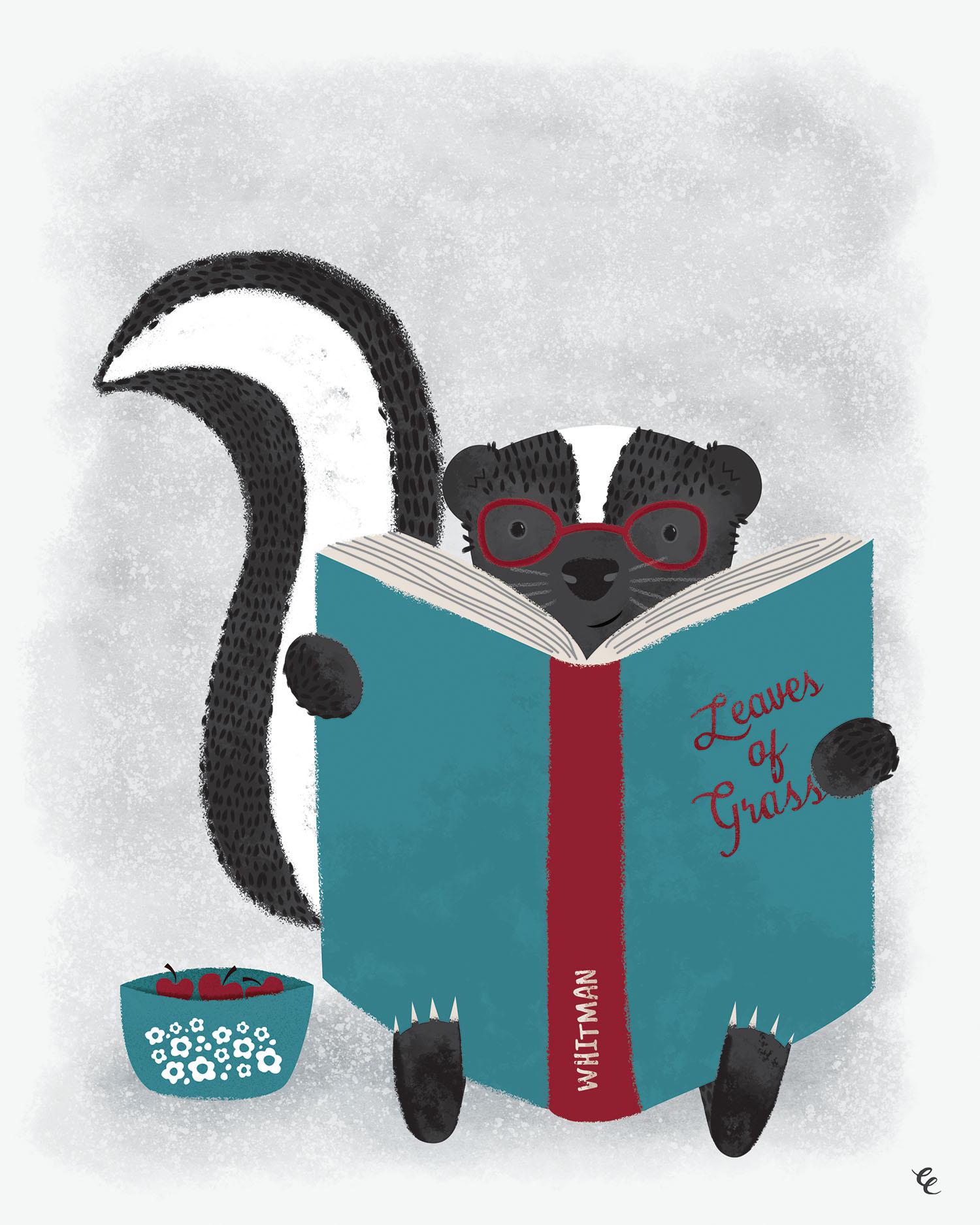 WEEK 31:  a Reading Skunk
