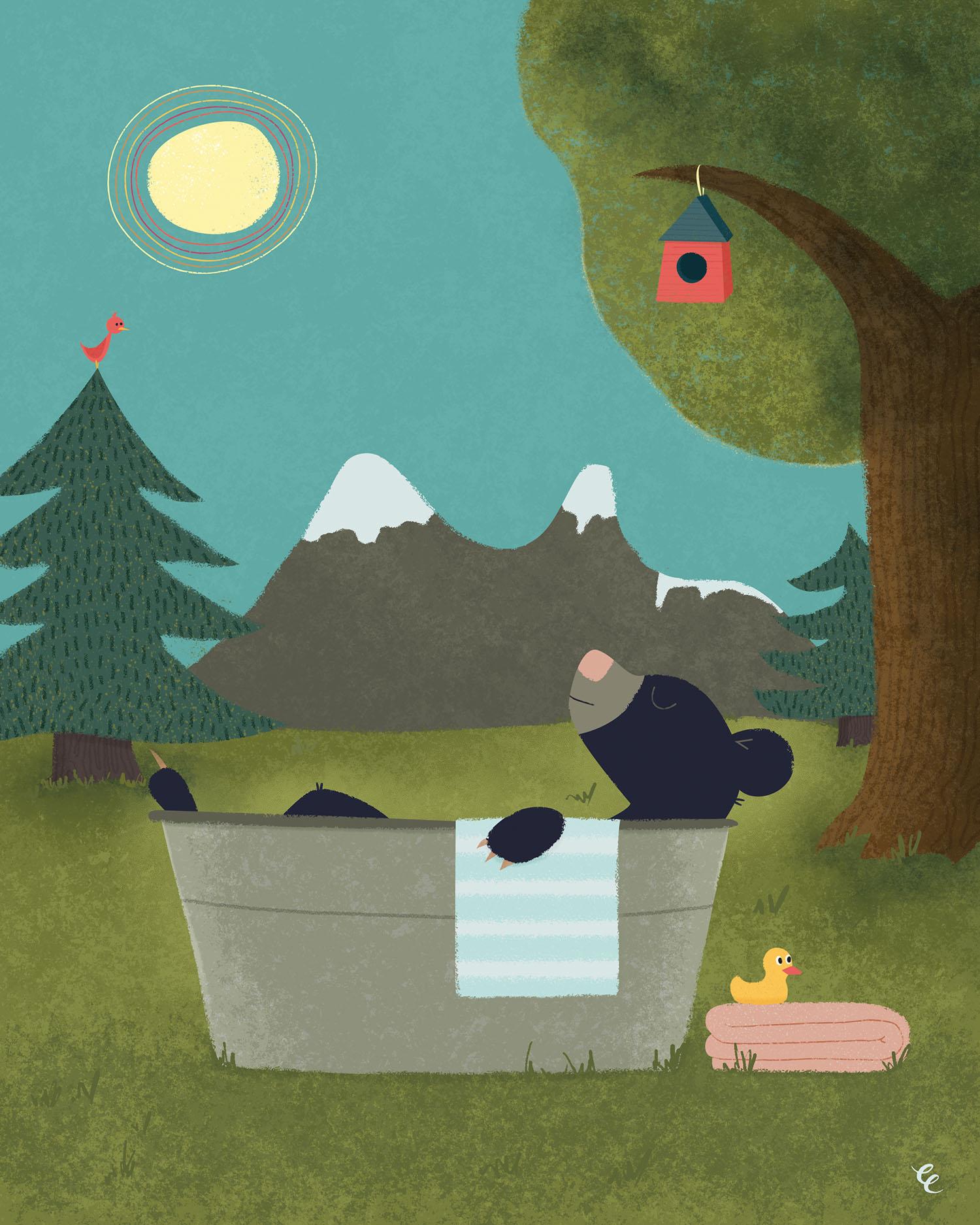 WEEK 35:  Black Bear Bathing