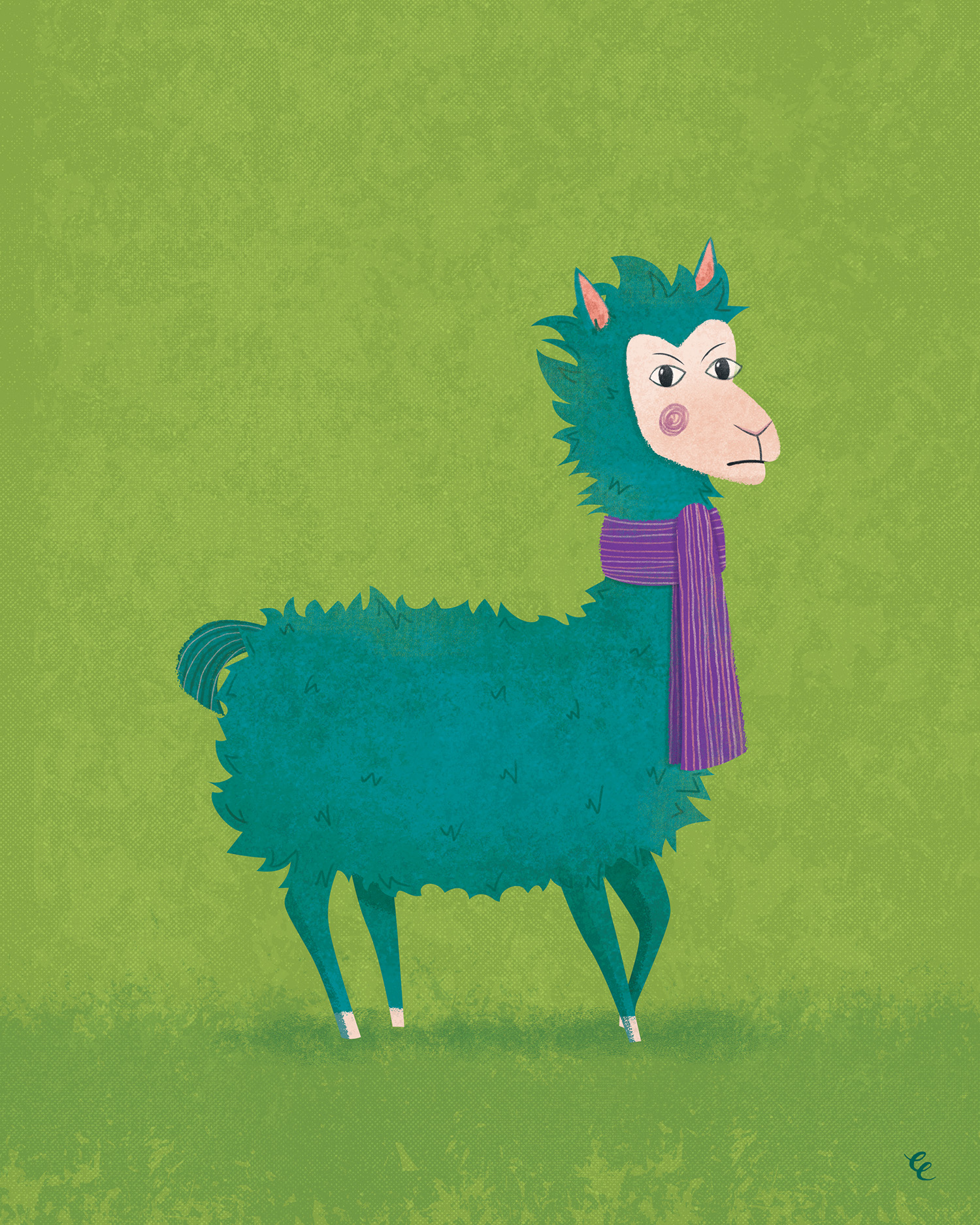 WEEK 40:  Grumpy Llama