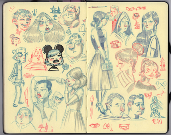 Sketchbook:   Melany Altuna
