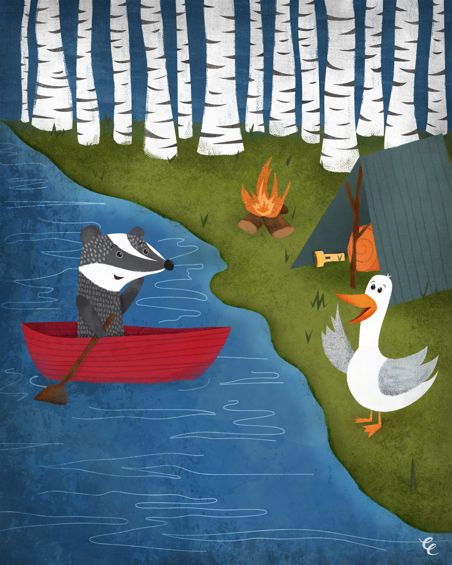 Week 28,  Badger and Duck Go Camping