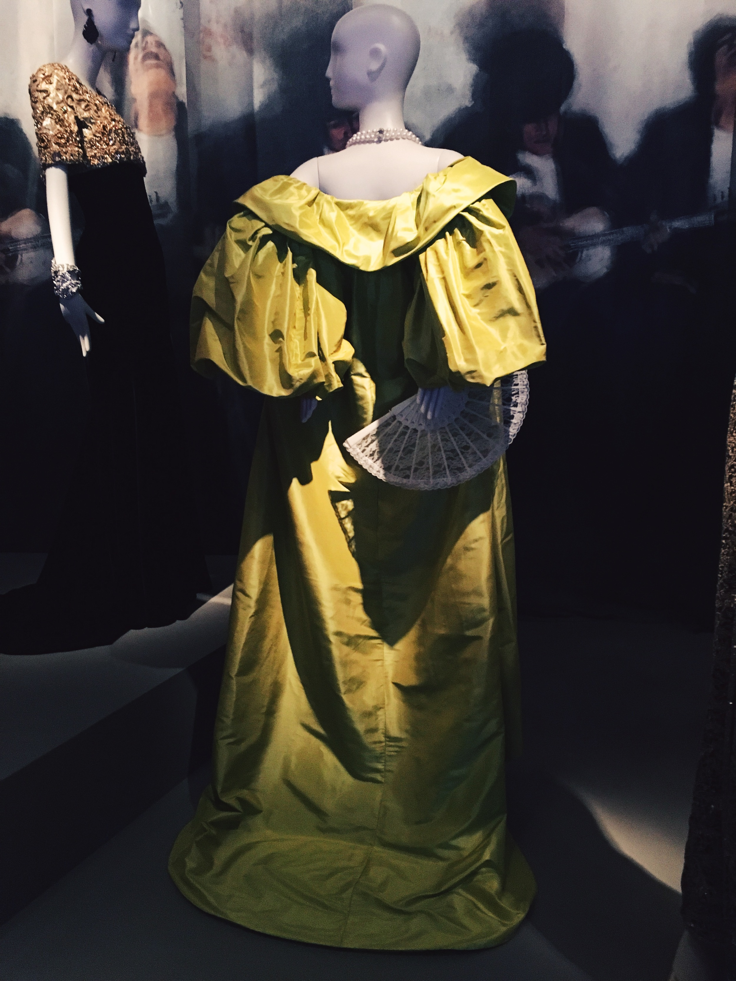 Citron silk taffeta