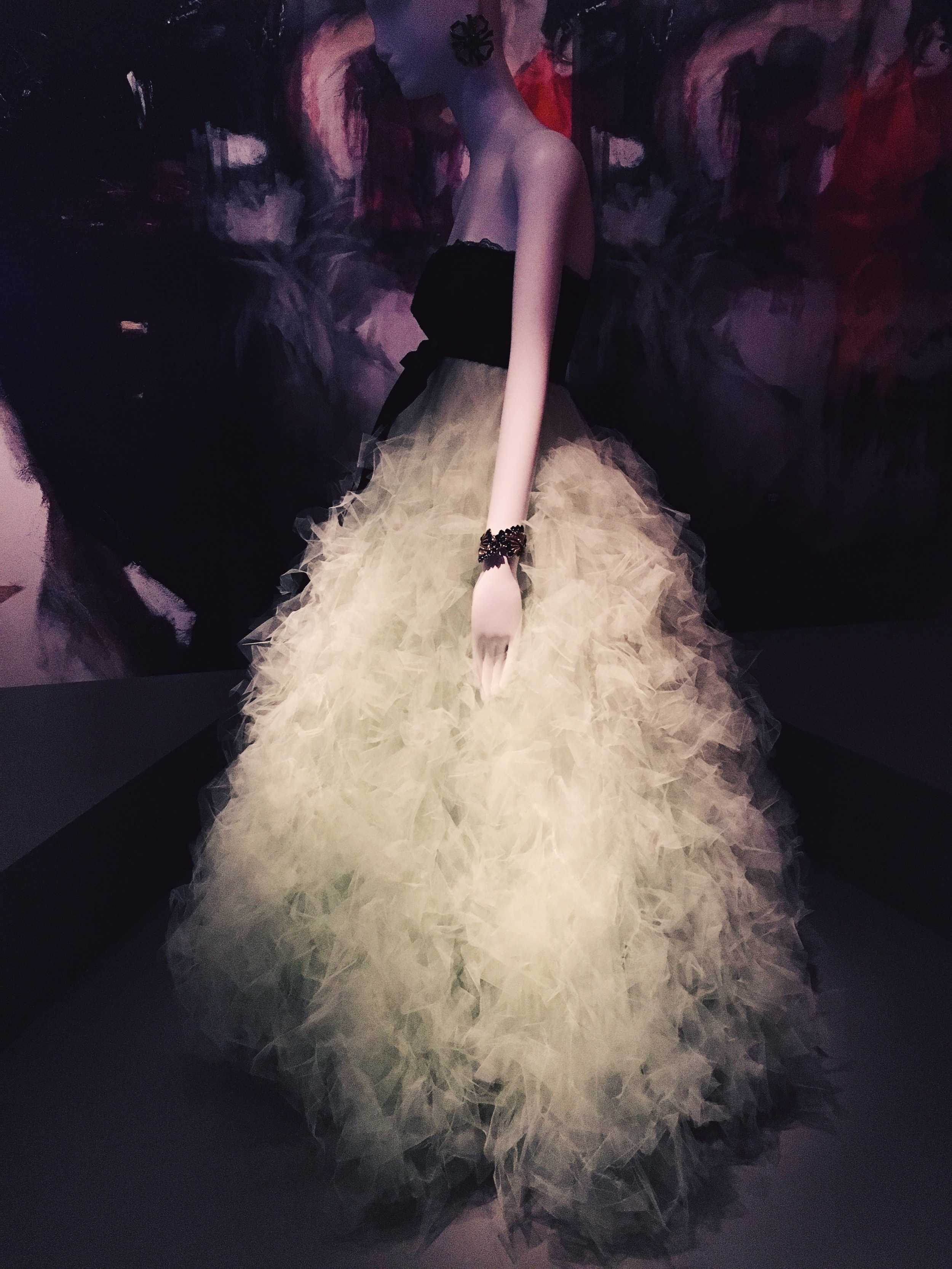 Thousands of layers of seafoam silk tulle