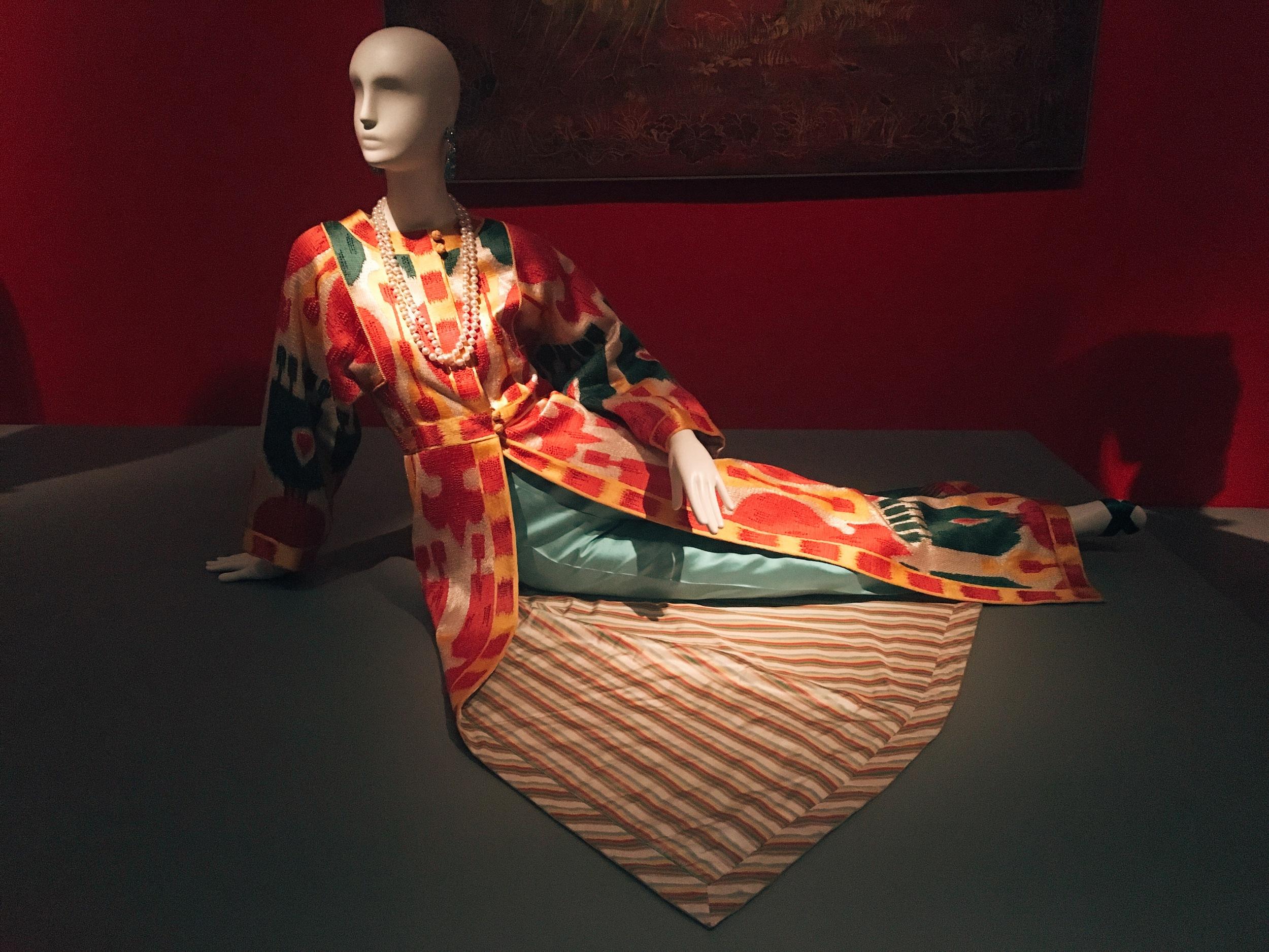 Silk batik full length jacket