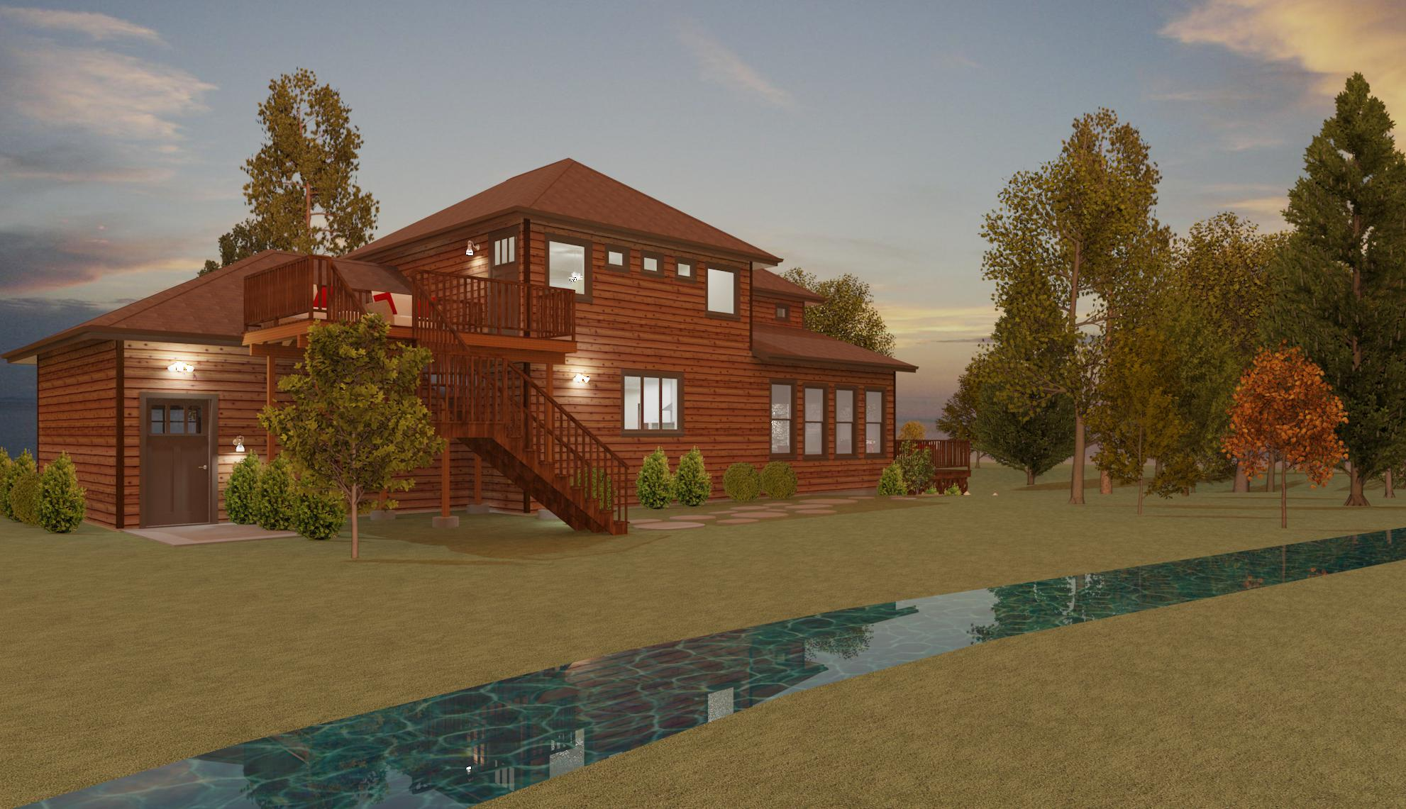 Wattz Residence - Proposed Rear View Raytrace 2.22.16.jpg