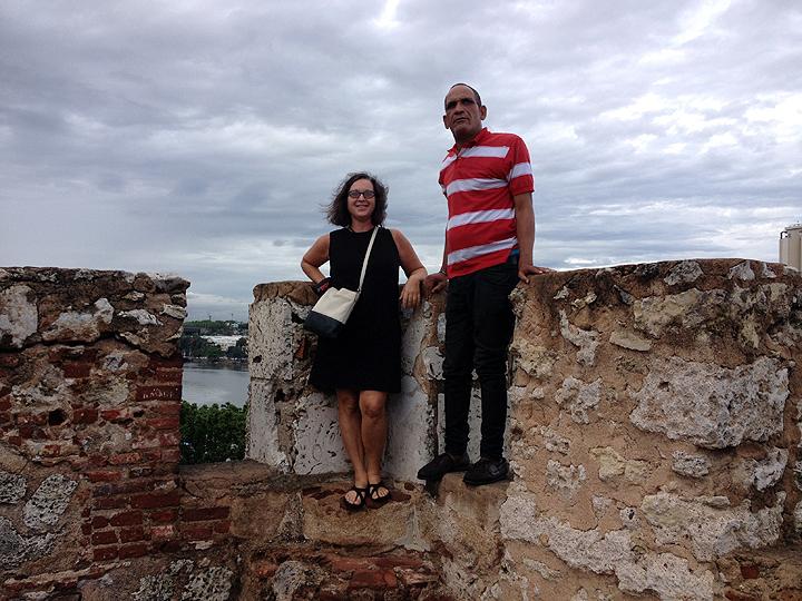Deb and Tomas atop the Forteleza.