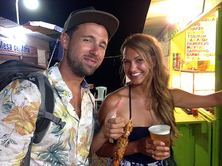 Boqueron weekend with Rob and Crystal of S/V Kairos.  Good folks, beer, and meat on a stick.