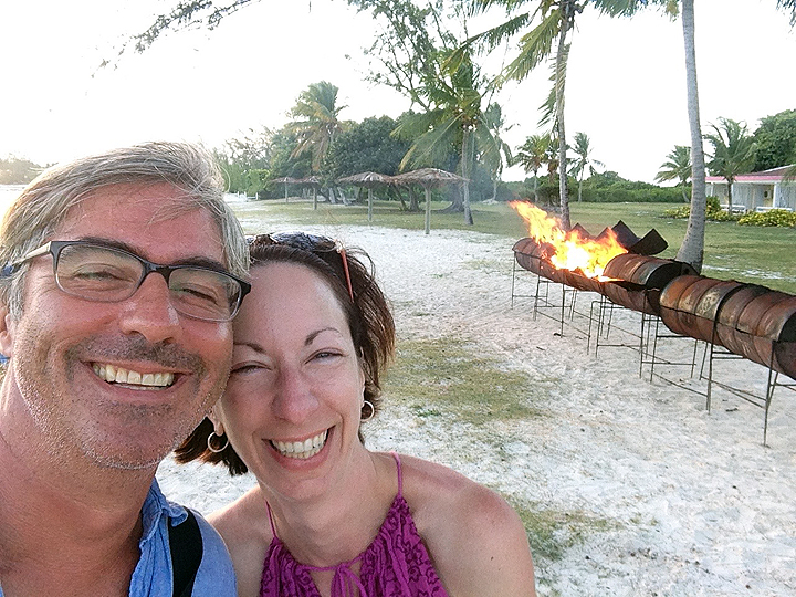 Eve and Pete and fire.