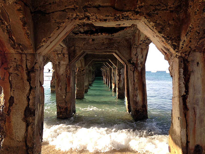 Below said pier