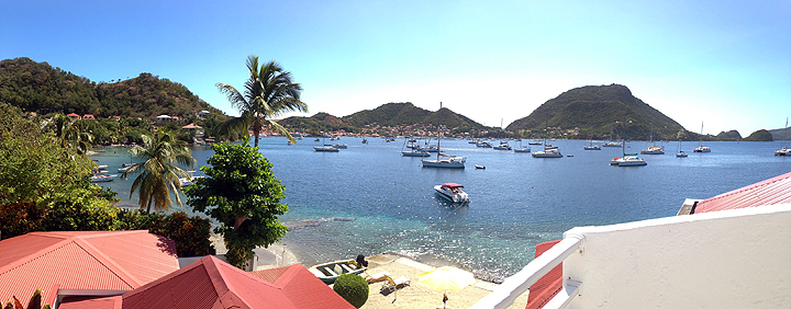 The town of Bourg des Saintes on Terre de Haut, from our hotel balcony