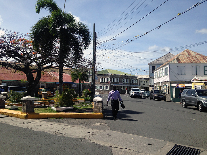 Downtown Charleston, Nevis