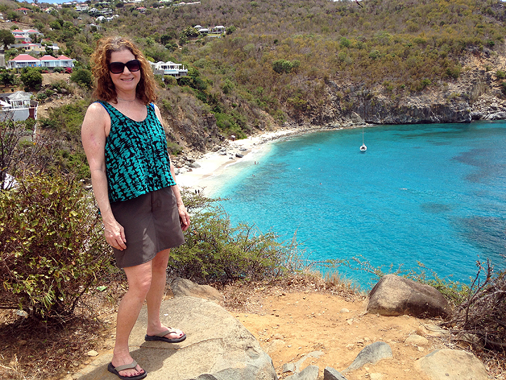 A hot hike up to one of Gustavia's three forts, overlooking Shell Beach (where we would shortly be cooling off).