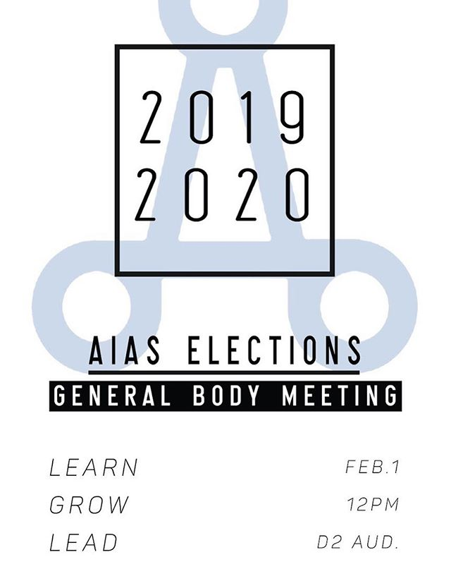 Everyone it's time for elections! We want you to get involved. Please email AIAS KSU to nominate either yourself or someone else for any positions on the board. If you have any questions regarding positions email nmehrjer@students.kennesaw.edu