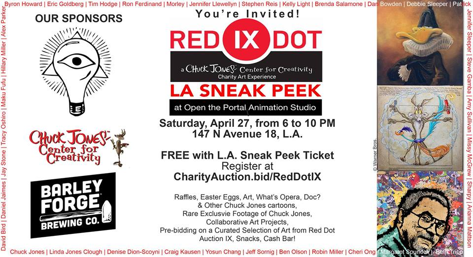 I'll be participating with a 3D Art piece on the Chuck Jones Red Dot Auction IX!