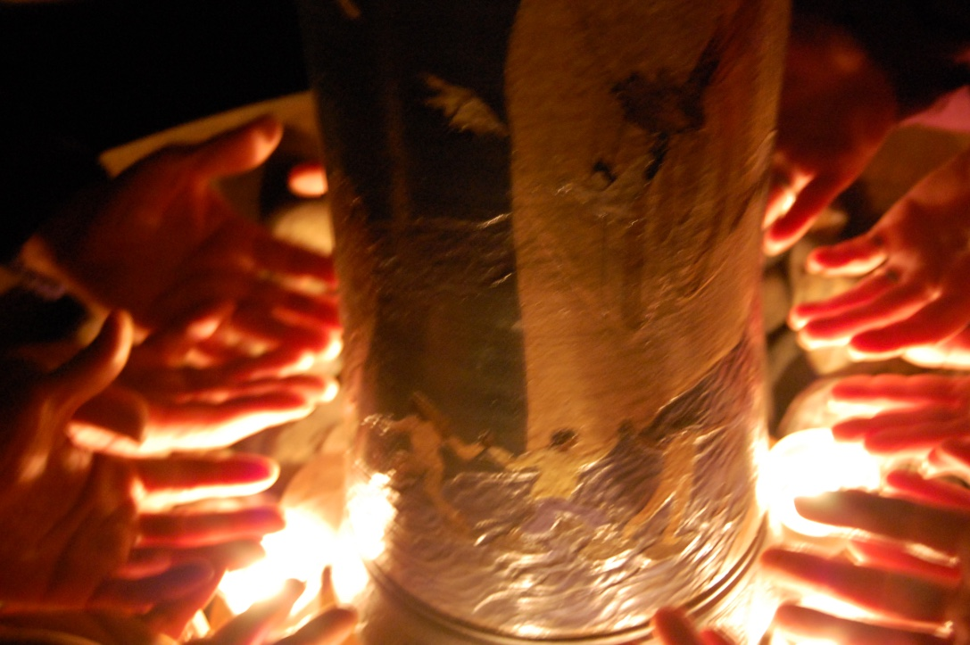 An Axis of Hope Prayer Wheel is used in ceremony