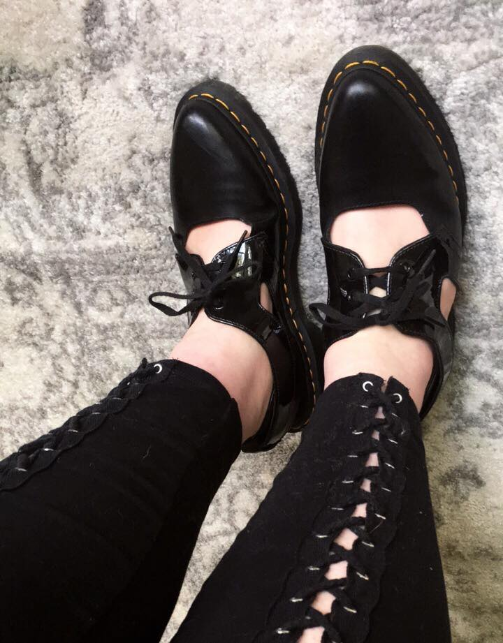 Dr. Marten's Genna Patent Leather Oxfords