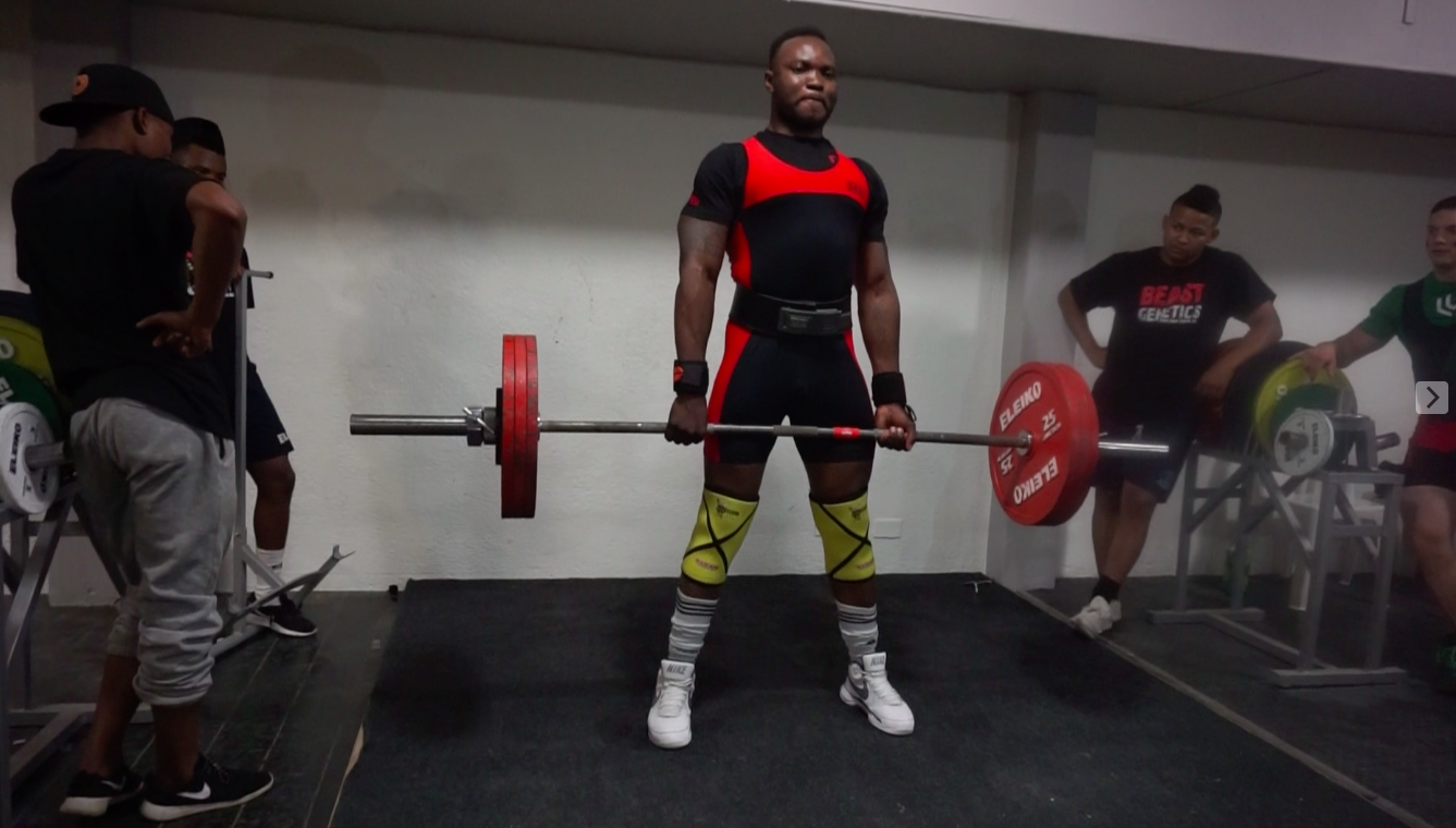"""Knox - Knox weighed in at 93.90kg and totalled a big 552.5kg! He has been """"lifting"""" for many years now, but has only recently transitioned to powerlifting specific training.SquatAttempt 1 -160kgAttempt 2 - 180kgAttempt 3 - 200kg X (depth)BenchAttempt 1 - 130kgAttempt 2 - 145kgAttempt 3 - 160kg XDeadliftAttempt 1 - 180kgAttempt 2 - 200kgAttempt 3 - 227.5kg"""