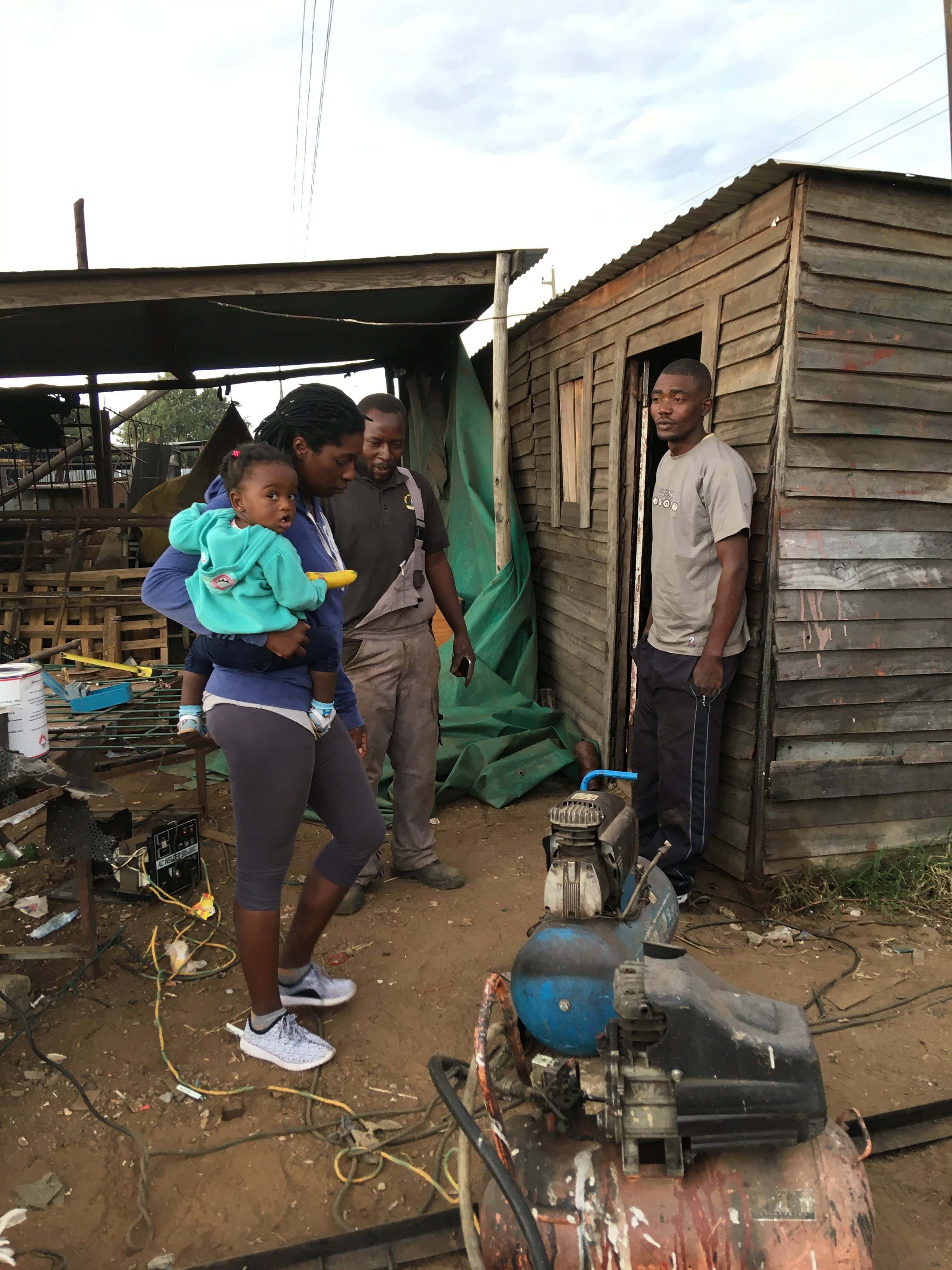 Maforo's Workshop - Maforo lives in Glen Norah, and works out of a small shack on the side of the road.