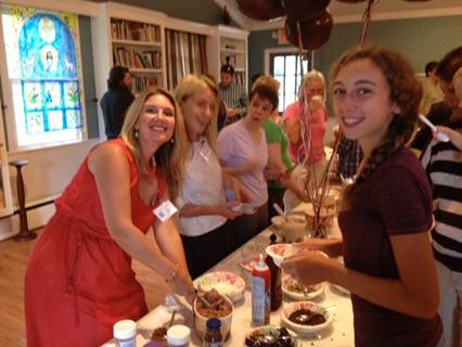 Our Hospitality Committee dishes up ice cream sundaes at back-to-school Sunday.