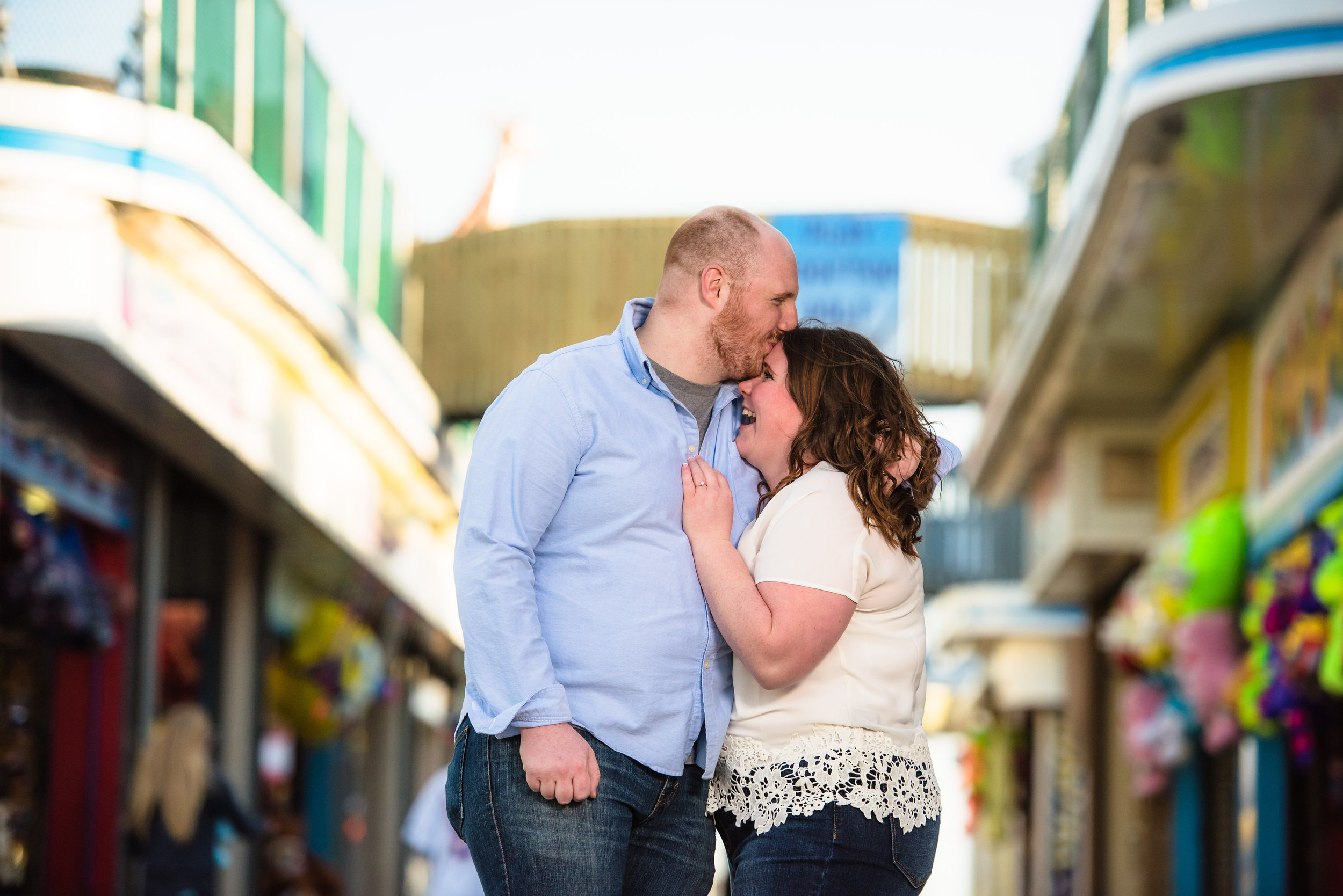 Seaside, NJ Boardwalk & Beach Engagement Photos Jake & Jessica 1