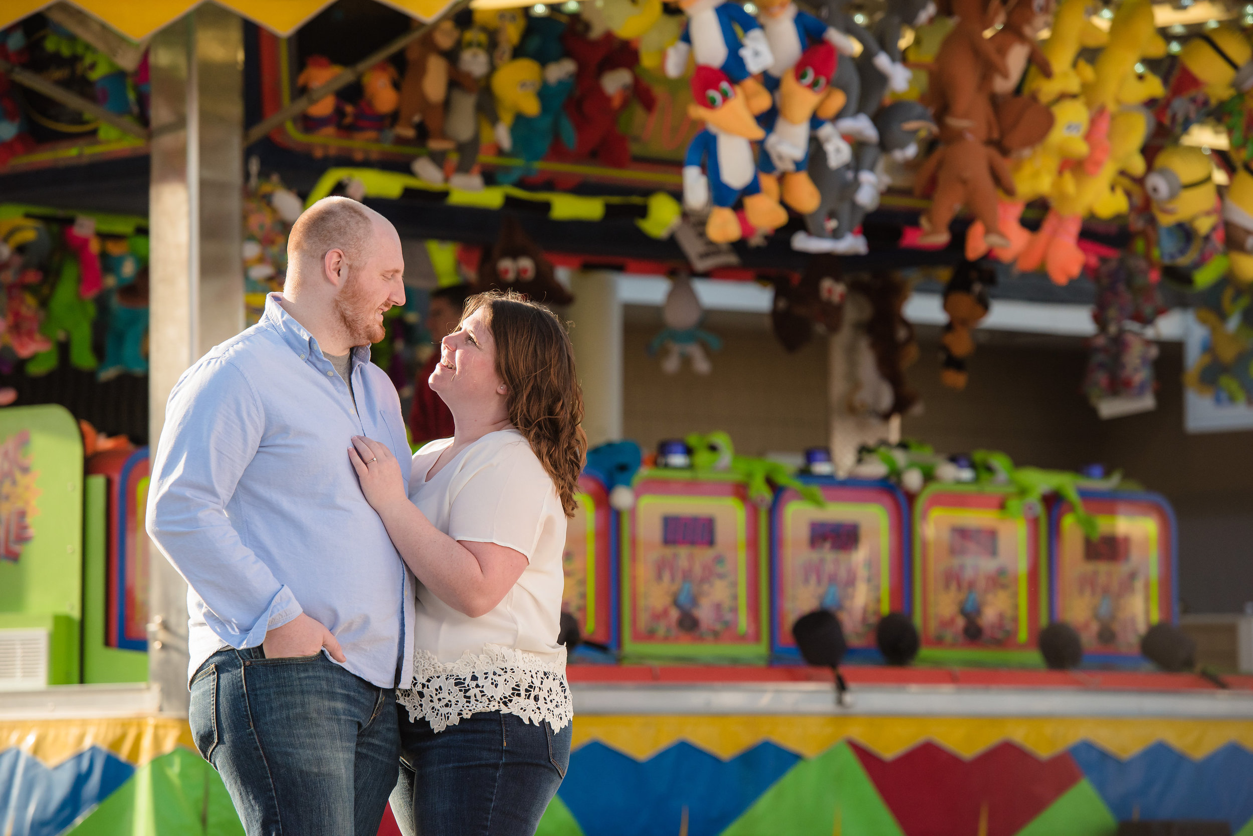 Seaside, NJ Boardwalk & Beach Engagement Photos Jake & Jessica 3