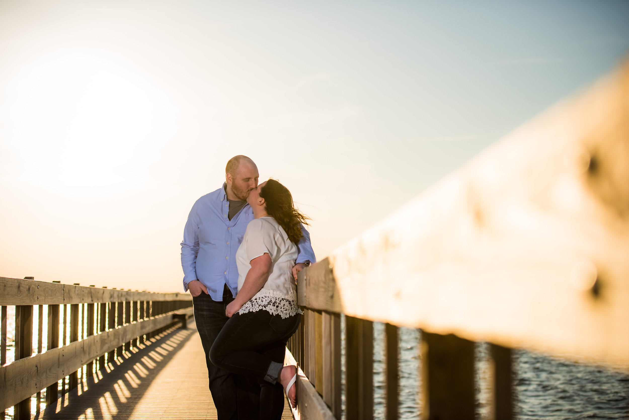 Seaside, NJ Boardwalk & Beach Engagement Photos Jake & Jessica 11