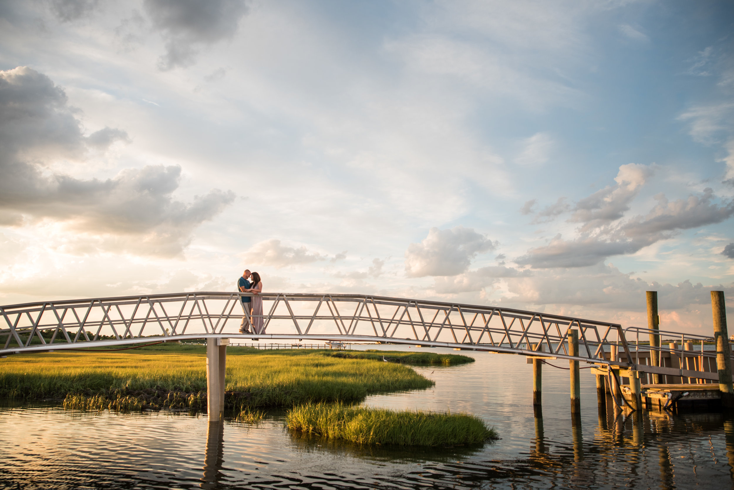 Long Beach island sunset engagement session on the bay