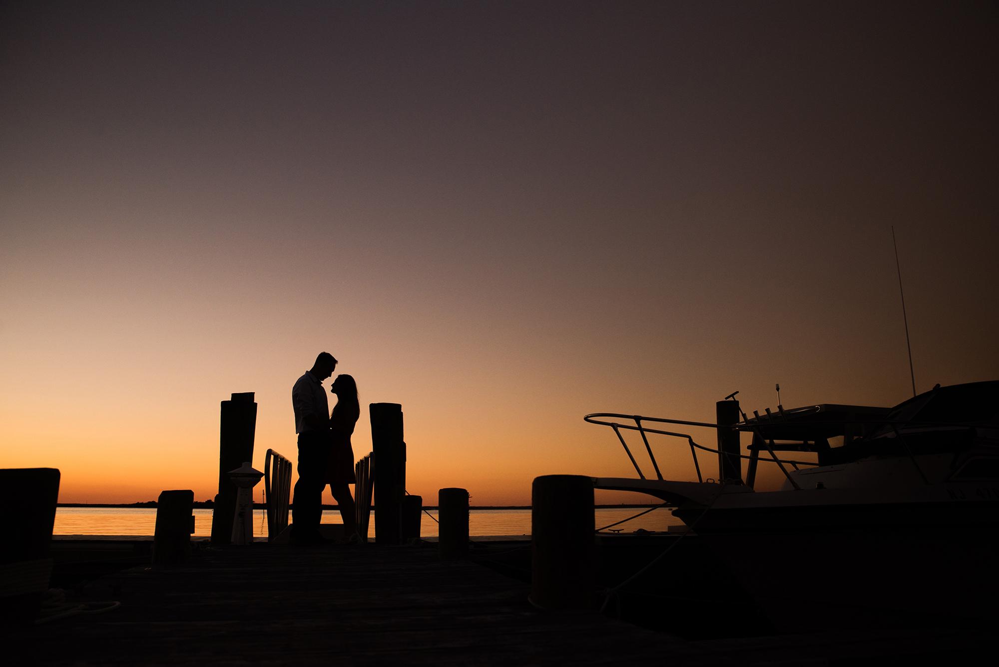 Engagement Photos at the Brant Beach Yacht Club