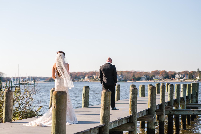 Clarks Landing Wedding Photos First Look