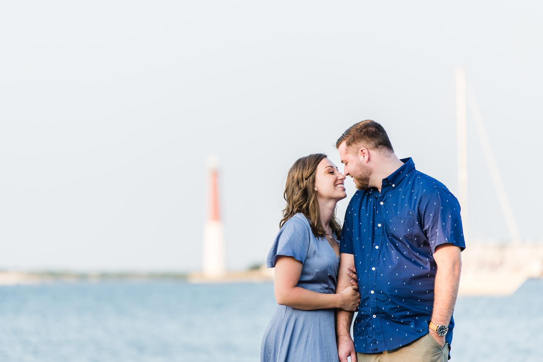 Engagement photos in Barnegat Light Long Beach Island NJ Melani2