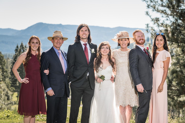 CA Wedding Family Photos