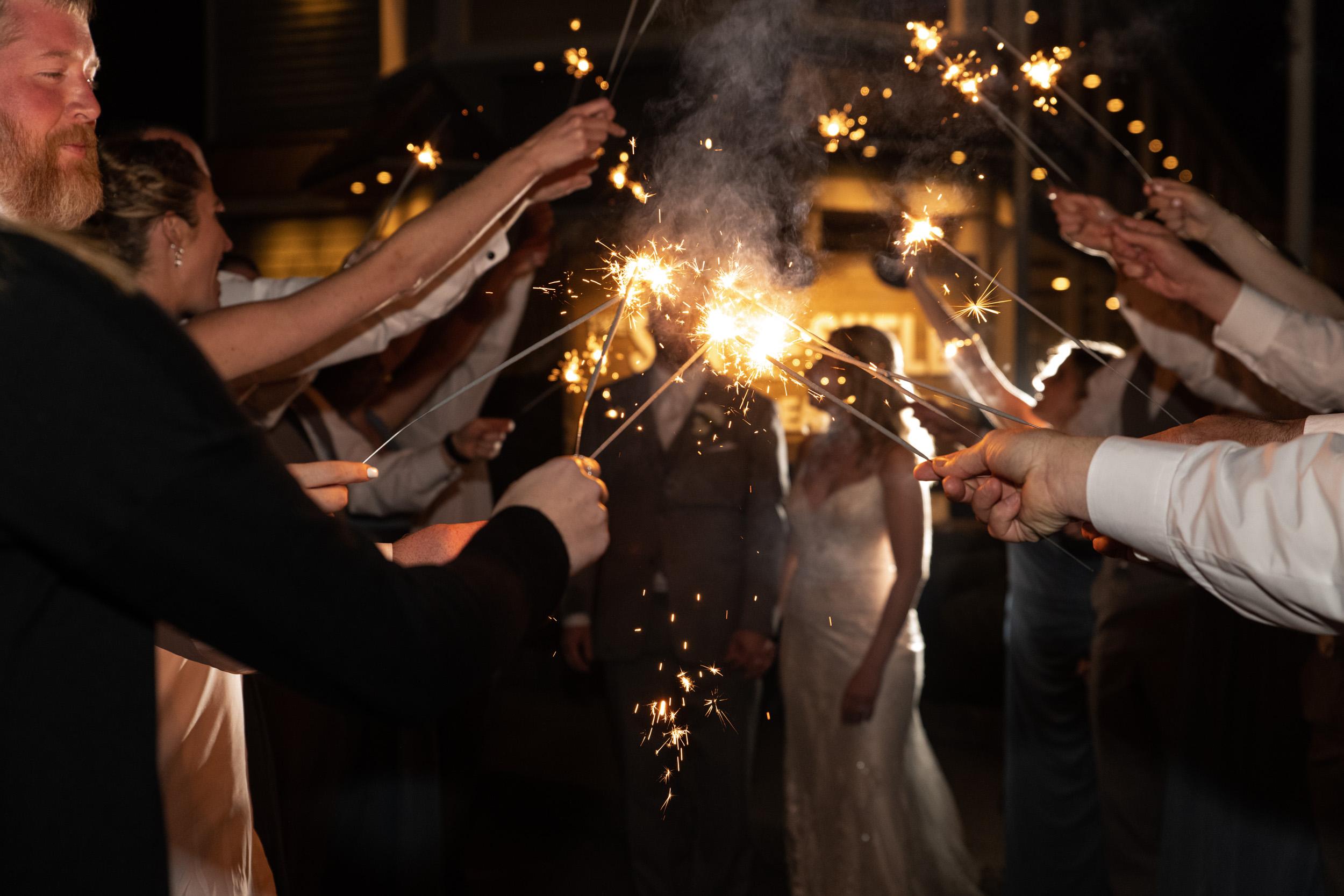 The Seashell Wedding Sparkler Exit