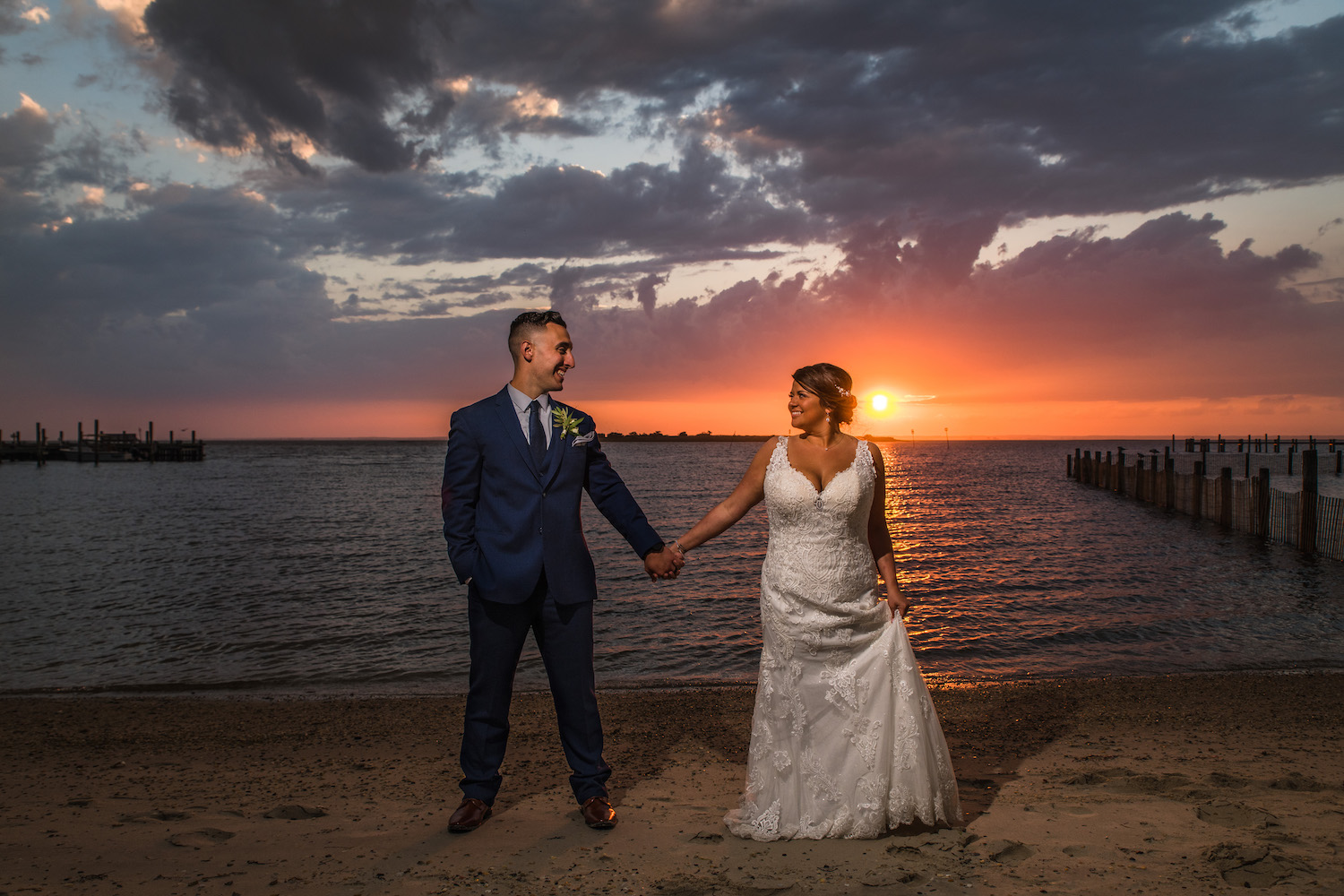 Sunset Wedding Photo Brant Beach Yacht Club