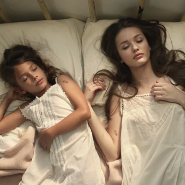 "Laneya Grace (left) still shot from the music video for Avicii's hit song ""Wake Me Up,"" that launched her career. / Photo Courtesy Shannon Escoto"