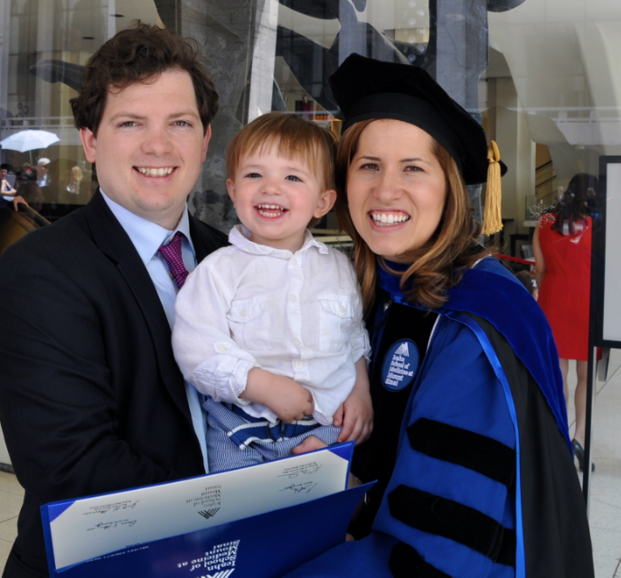 Melissa, her Husband and son at her PHD Graduation / Photo Courtesy Melissa Manice