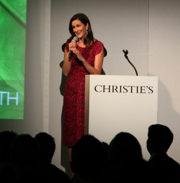 lYDIA FENET, CHRISTIE'S AUCTION HOUSE SVP, INTERNATIONAL DIRECTOR OF STRATEGIC PARTNERSHIPS AND LEAD BENEFIT AUCTIONEER