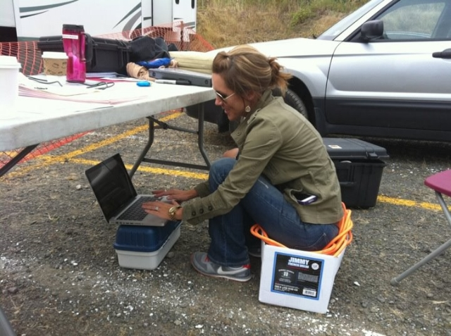 """You learn to be very resourceful when you work in production :)"" / Photo Courtesy Jessi Duley"
