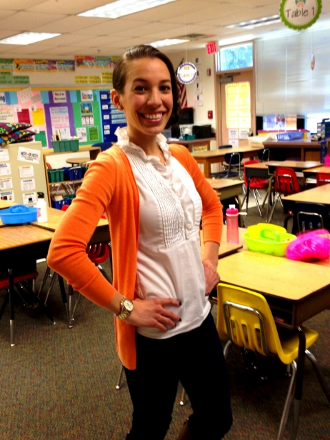 Sarah in her classroom at mckinley elementary school / photo courtesy sarah romero