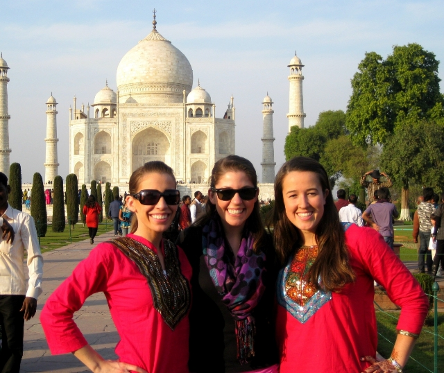 sarah visiting the taj mahal with other teachers in her education program. / photo courtesy sarah romero