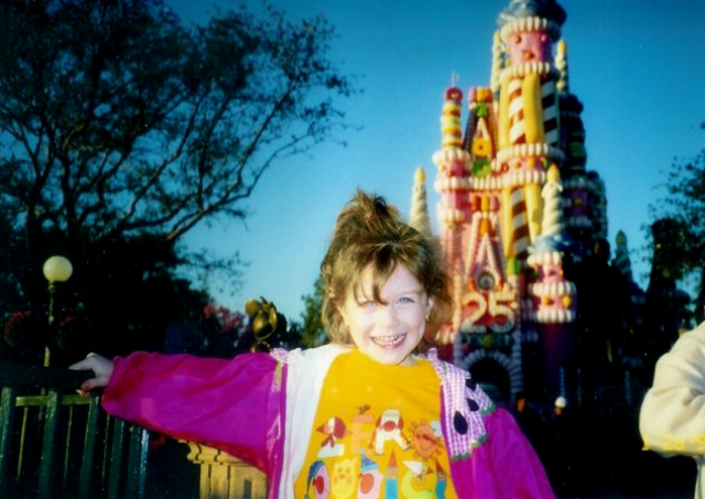 Sarah got her inspiration for storytelling at a young age. Here she is, at 5 years old, visiting Walt Disney World with her family in January 1998. / Photo Courtesy Sarah Snow