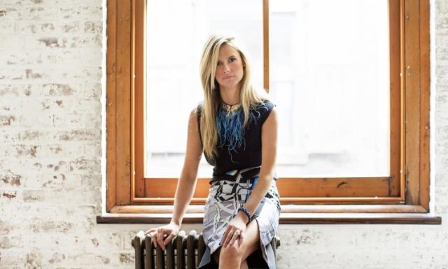 Mignonne sitting in her studio in tribeca / Photo courtesy Erik Melvin