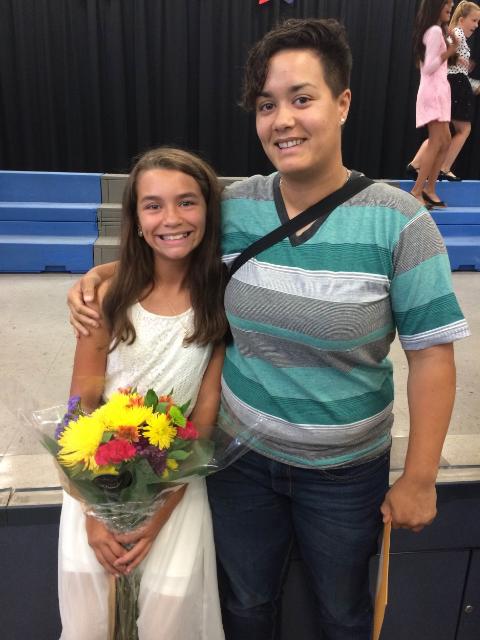 Jocelyn with her daughter, also named Jocelyn, then age 10. Courtesy of Jocelyn Rivera.