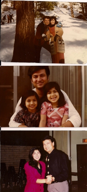 Sarina's parents and her sister / Photo Courtesy Sarina Jain