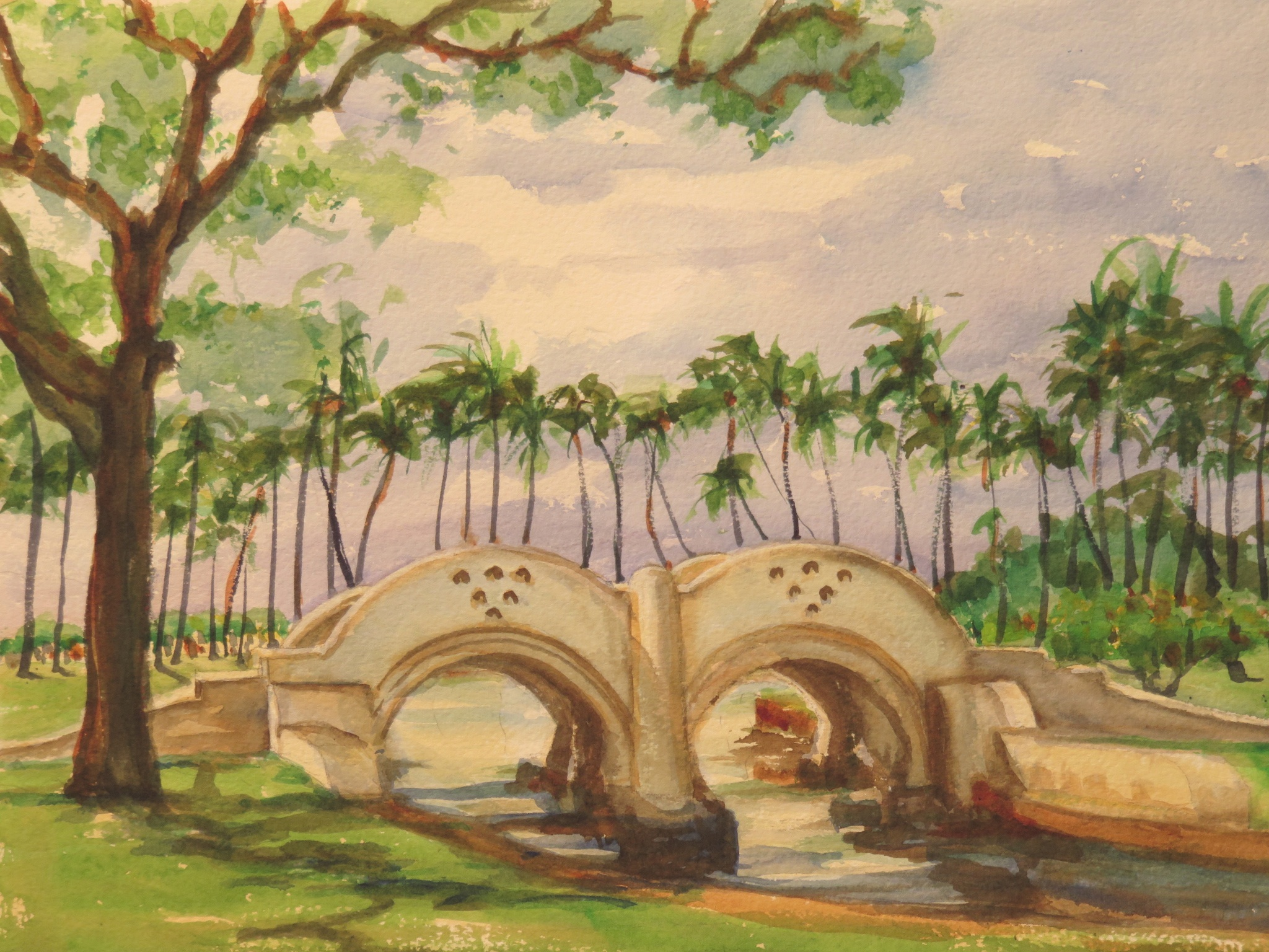 Ala Moan Deco, Watercolor 11 x 15